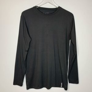 RBX Mens Black Long Sleeve Crew Neck Shirt Medium